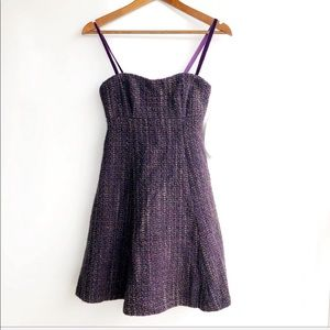 Nannette Lepore Timpani Tweed Plum Purple Dress